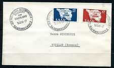 GERMANY SAAR 1948 SCOTT 201-202 MAP OF SAAR LOVEY ADDRESSED FIRST DAY COVER