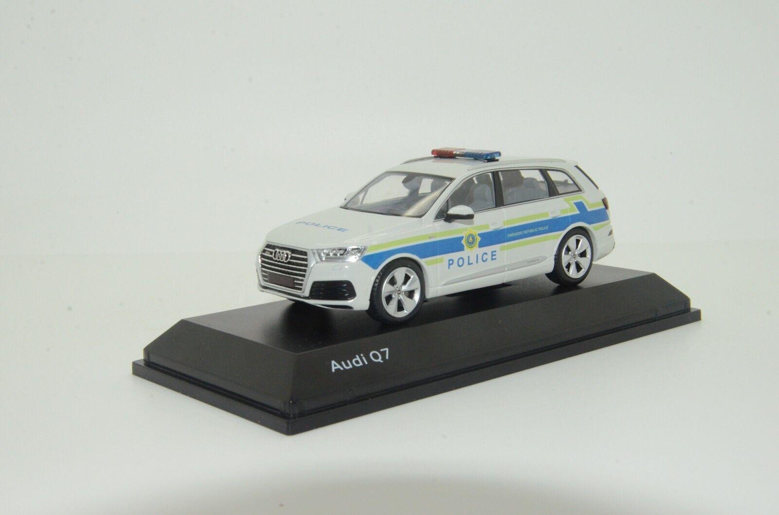 Raro nuevo Audi Q7 Zimbabue Policía Hecho a Medida 1/43