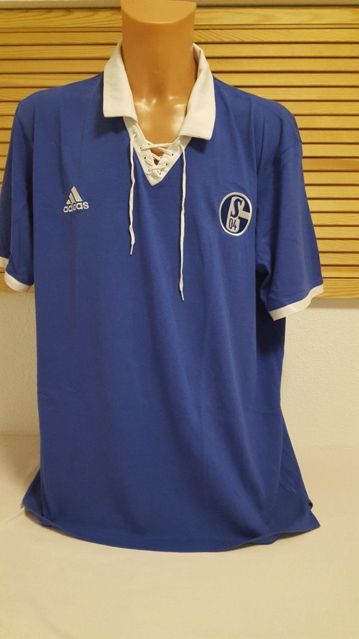 FC Schalke 04 Retro- Trikot- Shirt adidas XXL Vintage- Jersey blau T-Shirt  | Haben Wir Lob Von Kunden Gewonnen
