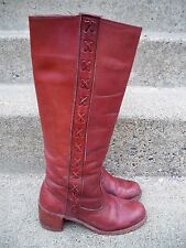 Vtg Dexter USA Leather Women's CAMPUS Motorcycle Riding Biker Stovepipe Boots 6