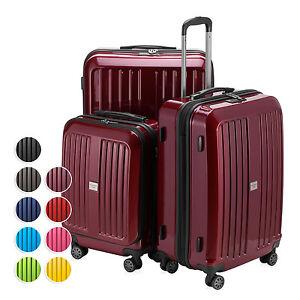 PRO Tec ® valises Coque rigide valise Valise de Voyage Set Trolley Valise Bagages 3tlg.