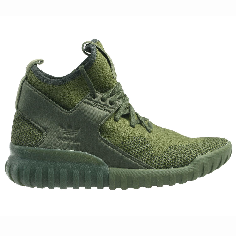 Adidas Tubular X Primeknit Mens S76713 Night Cargo Green Black Shoes Comfortable