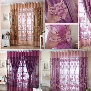 250cmx100cm cortina decoraci n hogar ventana dormitorio cuarto de estar ebay - Decoracion cuarto de estar ...