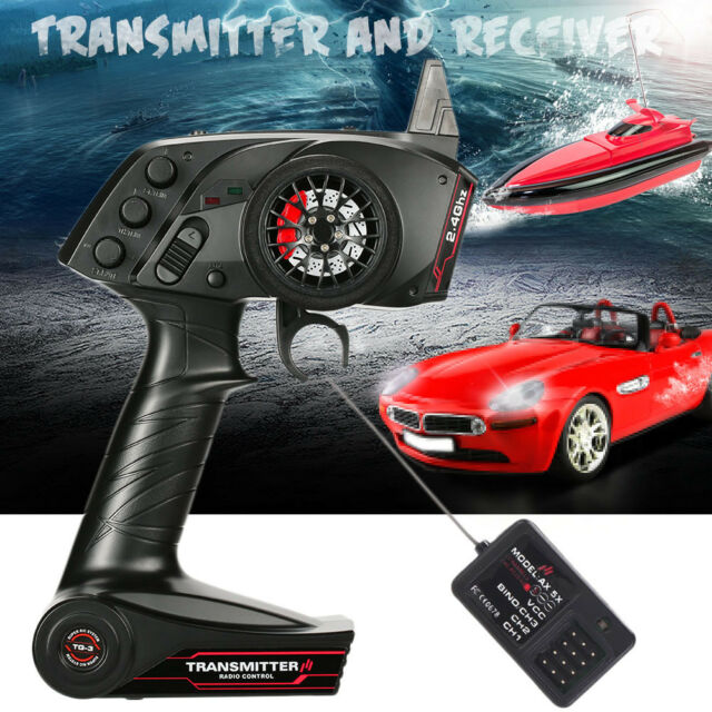 3CH 2.4GHz Remote Control Transmitter with Receiver for Spare RC Car / Boat UK
