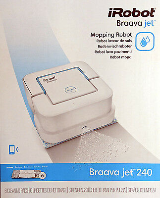 Tücher Microfaser Pads  für iRobot Braava Jet 240 waschbar 6 Trockenwisch