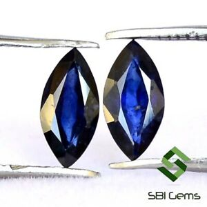 1-43-Cts-Natural-Blue-Sapphire-Marquise-Cut-Pair-8x4-mm-Calibrated-Loose-Gems