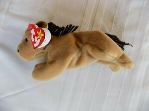 Derby-Original-Ty-Beanie-Babies-8-034-Nose-to-Tail-Birth-Date-9-16-95-GUWT