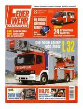Feuerwehr Magazin - Ausgabe Nr. 8 - 08.2002 - Zustand: 1-   #3288#