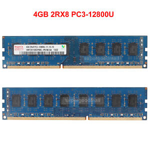 For-Hynix-4GB-2Rx8-PC3-12800U-DDR3-1600MHZ-240Pin-DIMM-Desktop-Memory-RAM-Intel