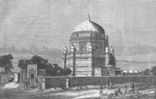 PAKISTAN Multan Rukn-e-Alam 1863 antique print