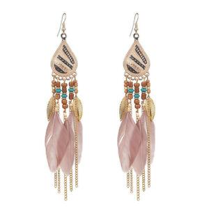 Fashion-Women-Bohemian-Earrings-Vintage-Long-Tassel-Fringe-Boho-Dangle-Earrings