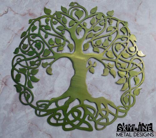 Infinity Tree of Life Green Metal Wall Art Home Decor Gift Idea