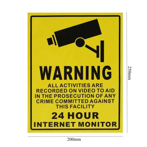 1PC CCTV Security Surveillance Camera Warning Sticker Sign Decals Warnschild WS6