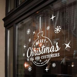 Buon-NATALE-a-clienti-CAPODANNO-Finestre-Adesivi-Decalcomania-Decorazione-Di-Natale-B39