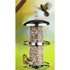 Vogel Futterstation Vogelhaus Größe 14x27cm aus EDELSTAHL              60129