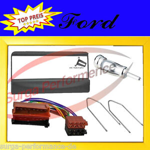 Ford-Fiesta-Mondeo-Radio-Bezel-Mounting-Frame-Adapter-ISO-Cable-Focus-Compo-Set
