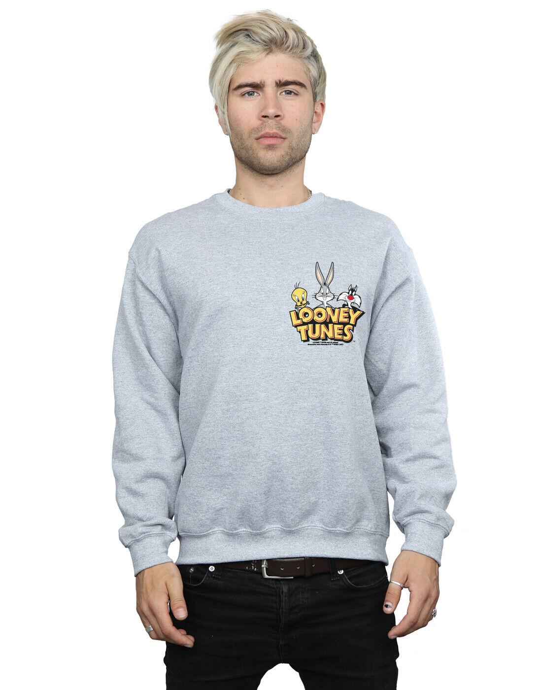 Looney Tunes Men's Group Faux Pocket Sweatshirt
