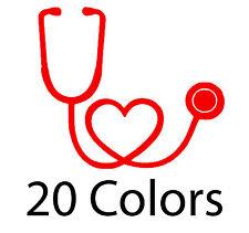 nurse doctor stethoscope heart vinyl decal sticker car truck yeti chic trendy
