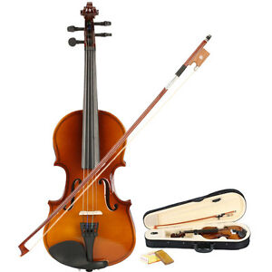 New-School-Acoustic-Violin-1-8-with-Case-Natural-Color-Black-Friday-Promotions