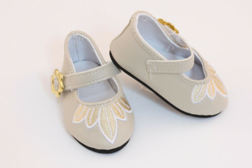 "Embroidered Dress Shoes made for 18"" American Girl Doll Clothes"