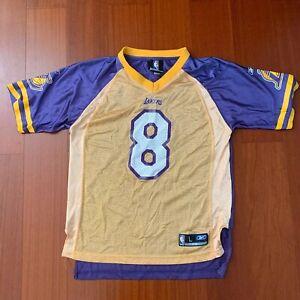 Details about Kobe Bryant #8 ROOKIE Los Angeles LA Lakers Football jersey sz L Kids Rare Vtg