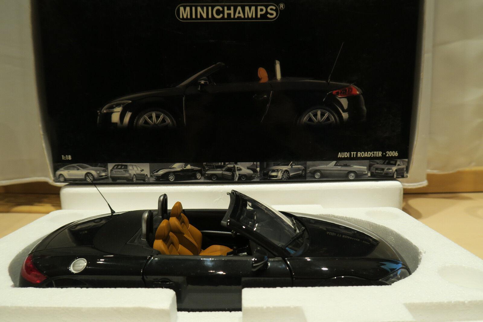 venta de ofertas Audi TT Roadster Roadster Roadster 2006 Minichamps 1 18 negro metallic  Venta en línea precio bajo descuento