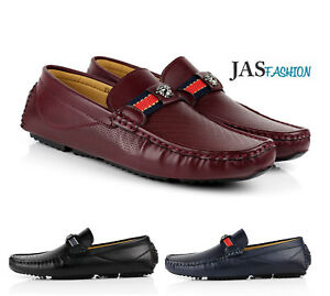 15931dc24f0a Image is loading Mens-Slip-On-Driving-Shoes-Italian-Designer-Loafers-