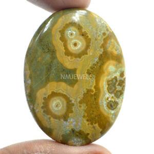 Cts-65-80-Natural-Orbicular-Ocean-Jasper-Cabochon-Oval-Cab-Loose-Gemstone
