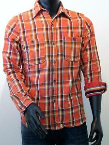 REPLAY-WORK-camisa-manga-larga-talla-M-NARANJA-EE-UU-Los-Angeles-NUEVO-um205