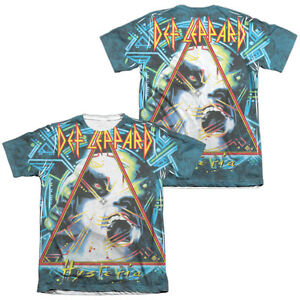 Def-Leppard-HYSTERIA-2-Sided-Sublimated-All-Over-Print-Poly-Cotton-T-Shirt