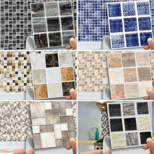 18-180X Moroccan Style Tile Wall Stickers Kitchen Bathroom Self-Adhesive Mosaic