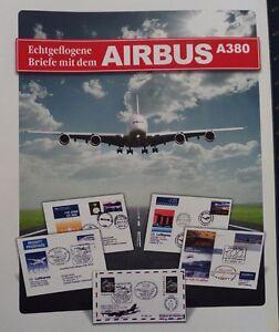AIRBUS-A380-Sammlung-von-29-versch-echt-geflogenen-Briefen-ABO-Preis-420