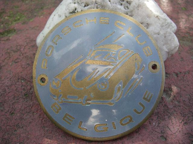 PORSCHE CLUB BELGIQUE BELGIEN BELGIUM Plakette Badge 356 - 1st. Edition - rare!