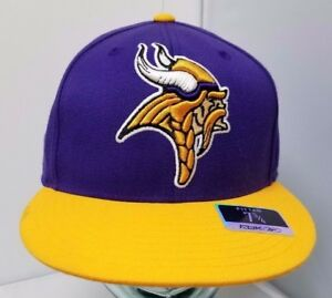 7a7138cc5 Minnesota Vikings NFL Licensed ON FIELD Reebok Team Fitted Cap Flat ...