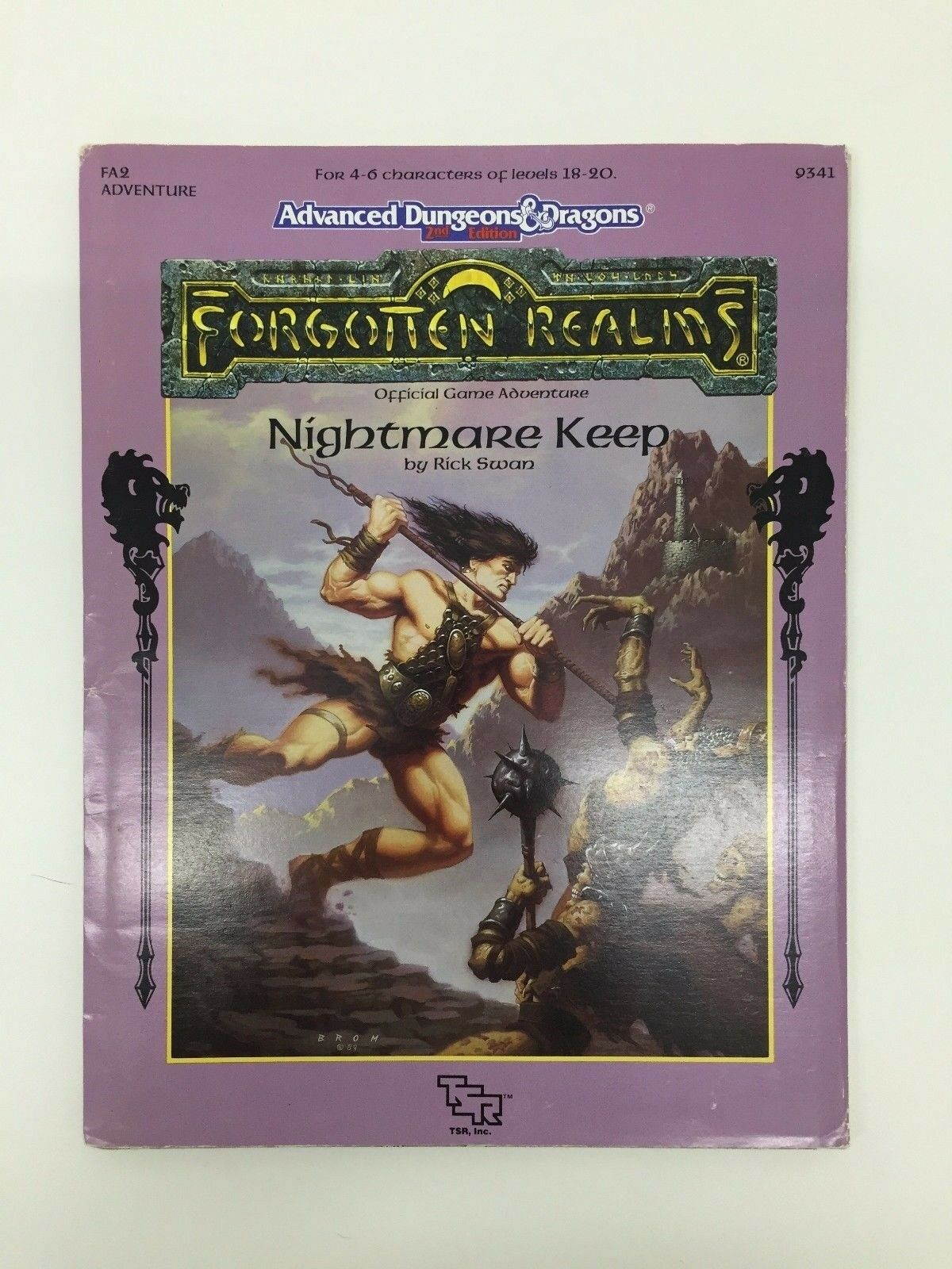 TSR ADVANCED DUNGEONS & DRAGONS FORGOTTEN REALMS NIGHTMARE KEEP FA2 9341 1991