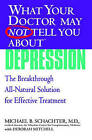 What Your Doctor May Not Tell You About Depression: The Breakthrough Integrative Approach for Effective Treatment by Michael B. Schachter, Deborah Mitchell (Paperback, 2007)