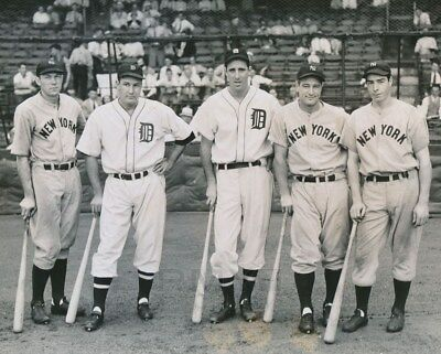 8x10 Photo of Stars of 1937 Baseball All-Star Game-Lou Gehrig Joe DiMaggio-plus