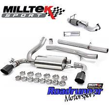 "Milltek Focus RS MK3 Turbo Back Exhaust System & DeCat Downpipe 3"" NonRes Black"