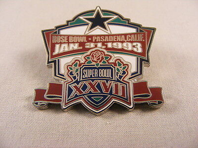 WILLABEE & WARD DALLAS COWBOYS NFL FOOTBALL SUPER BOWL XXVII 1993 PASADENA PIN