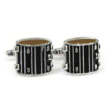 Black Drum Cufflinks New & Boxed percussion music marching snare AJ235 BNIB