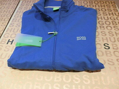 NEW HUGO BOSS MENS BLUE SPORTS TRACKSUIT BAG JACKET SUIT COAT JUMPER SWEATSHIRT