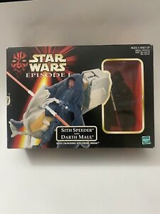Star-Wars-Episode-I-Sith-Speeder-and-Darth-Maul-Figure-Set-Hasbro-1998