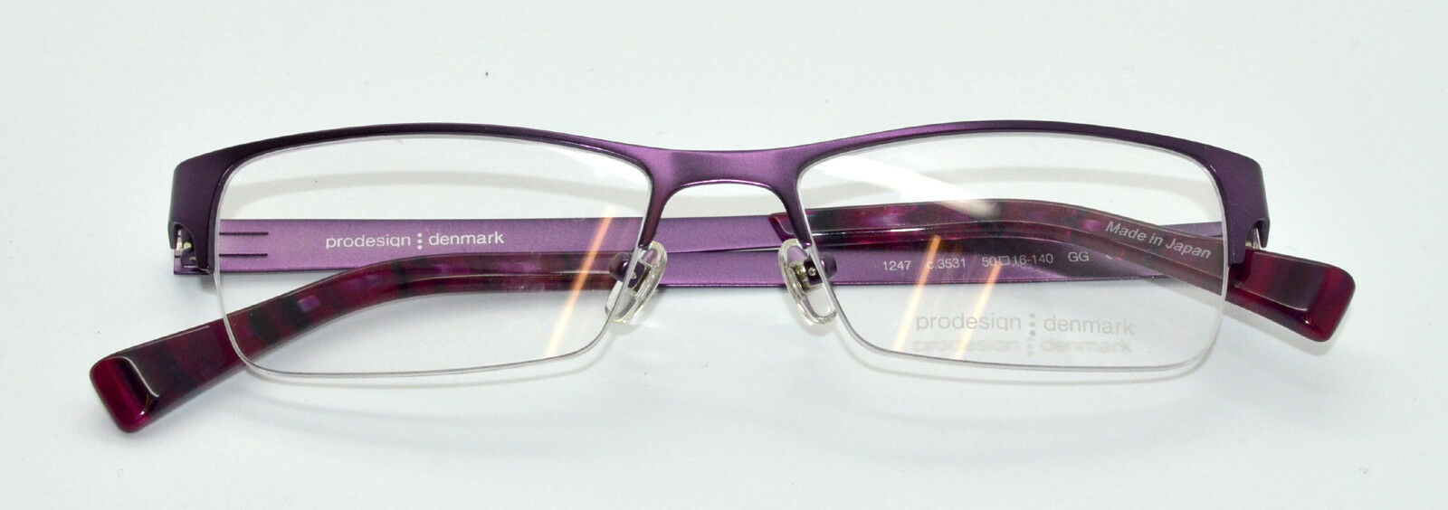 a261ec62cc9 100 Authentic PRODESIGN Denmark 1247 C.3531 Purple Eyeglasses Frames for  sale online