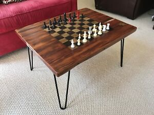 Gaming Coffee Table.Details About Handcrafted Gaming Coffee Table Retro Hairpin Legs
