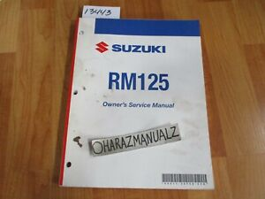 2007-SUZUKI-RM125-Owner-Owners-Owner-039-s-Service-Manual