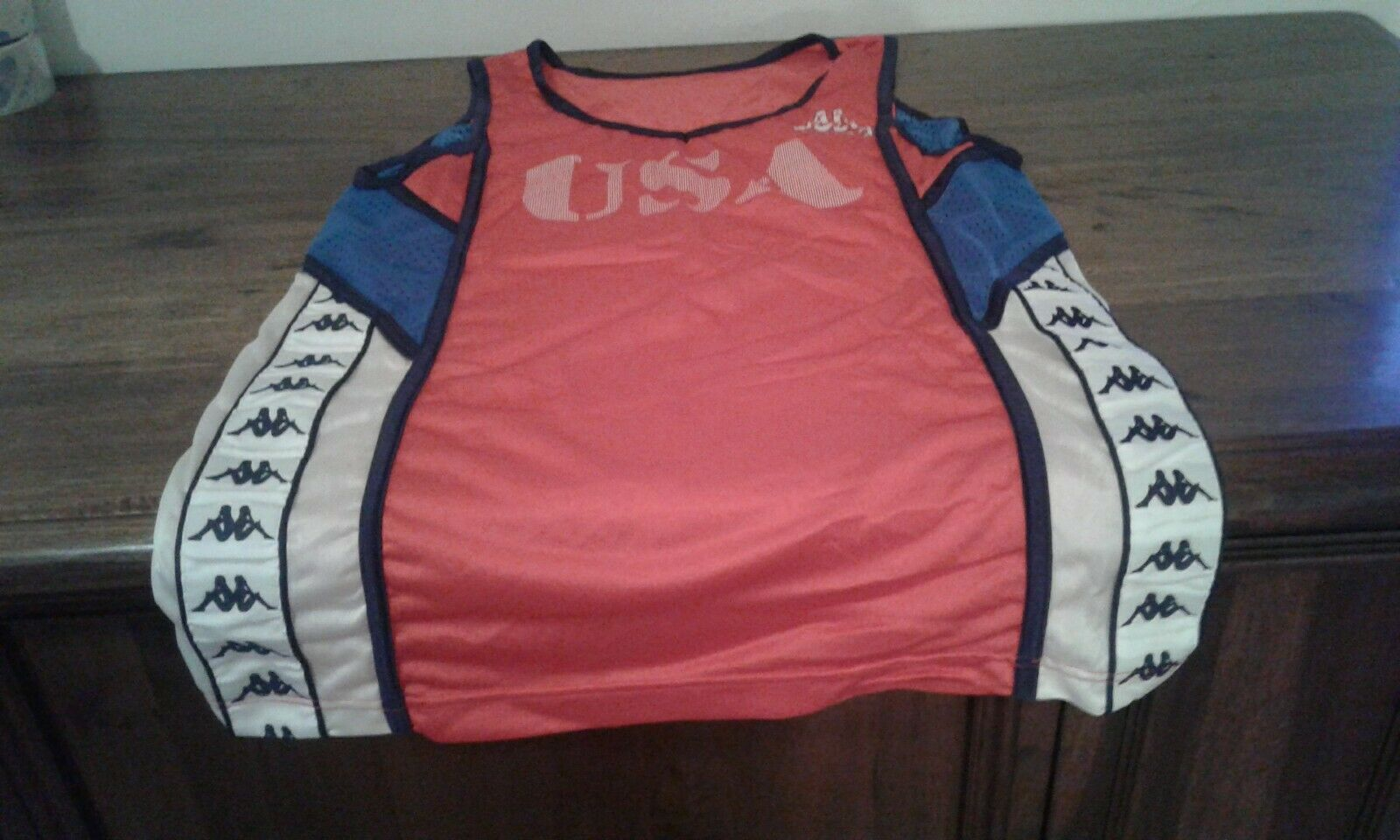 STORICA CANOTTA SHIRT USA VINTAGE '80 OLYMPIC GAMES OFFICIAL KAPPA MAGLIFICIO TO