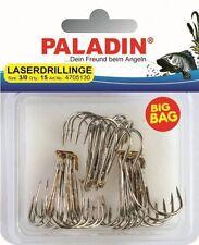 1//0 Drillinge 15St PALADIN Big Bag Laserdrillinge rot Gr Haken Angelhaken