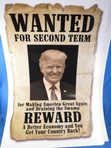 USA DECOR LOT OF 18 TRUMP WANTED FOR PRESIDENT 2020 POSTERS KEEP AMERICA GREAT