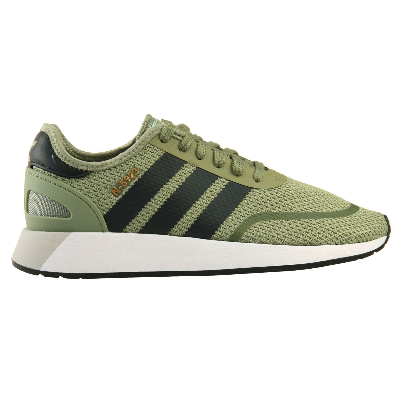 Adidas N-5923 Uomo DB0959 Tent Green Carbon White Running Shoes Size 7.5