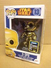 FUNKO POP! Star Wars C-3PO Gold Chrome #13 SDCC Exclusive Vinyl Figure NEW RARE